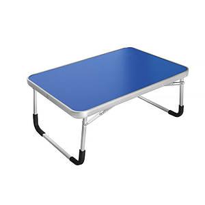 Складаний столик Lesko LY-005 Blue для ноутбука розкладний трансформер 70*50 см