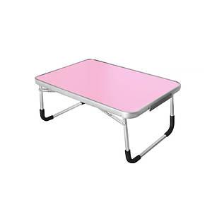 Складаний столик Lesko LY-005 Pink для ноутбука розкладний в ліжко 60*40 см