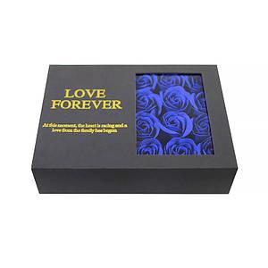 Оригинальная коробка с цветами из мыла Lesko L-164 Blue подарочная