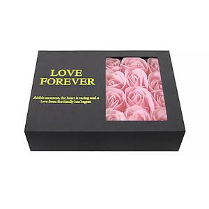 Оригинальная коробка с цветами из мыла Lesko L-164 Pink подарочная