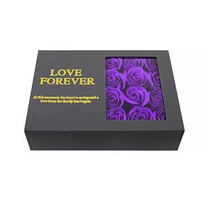Оригинальная коробка с цветами из мыла Lesko L-164 Purple подарочная