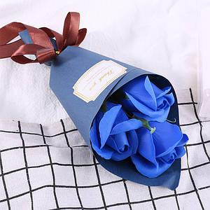 Розы из мыла Lesko L-4136 Blue букет