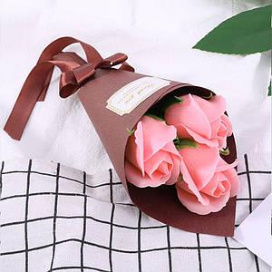 Розы из мыла Lesko L-4136 Pink букет подарочный