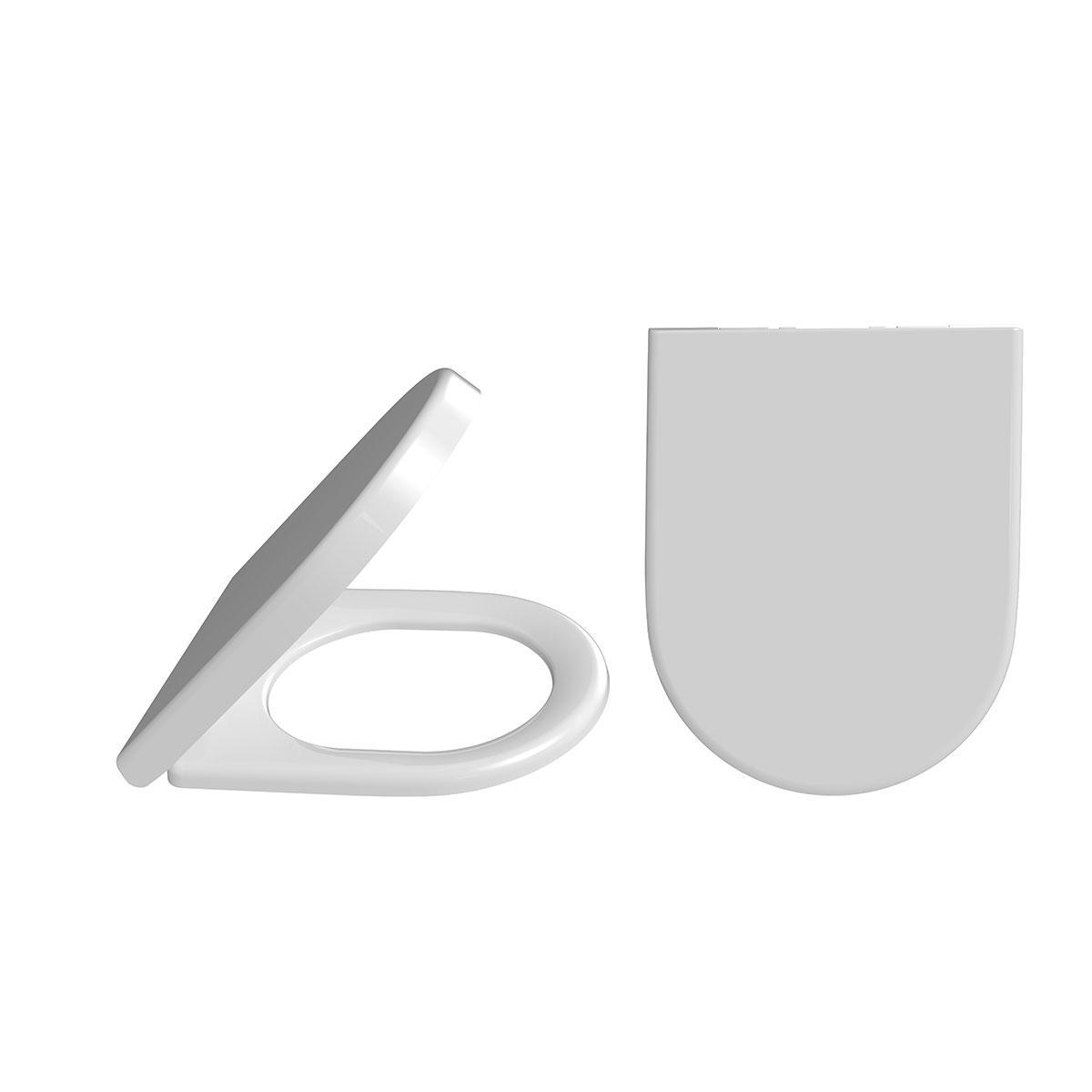 Сидіння для унітазу з мікроліфтом і дюропластом, універсальне біле (NOVA 2066)