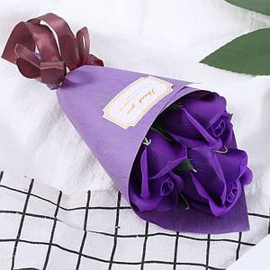 Розы из мыла Lesko L-4136 Purple букет подарочный