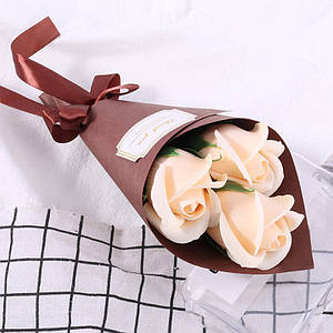 Розы из мыла Lesko L-4136 White букет подарочный