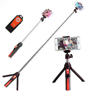 Монопод Benro MK10 Red штатив селфи палка для смартфона крепление фото видео техники