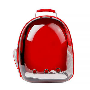 Рюкзак-переноска для кошек Taotaopets 253304 Panoramic Red 35*25*42cm с иллюминатором