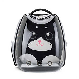 Рюкзак-переноска для кошек Taotaopets 256604 Black Panoramic Cats сумка-контейнер 34*28*40 cm