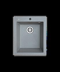 Кухонна мийка гранітна Borgio Q-410x500 сірий камінь