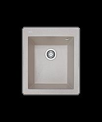 Кухонна мийка гранітна Borgio Q-піщаний 410x500