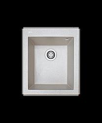 Кухонна мийка гранітна Borgio Q-410x500 мігдаль