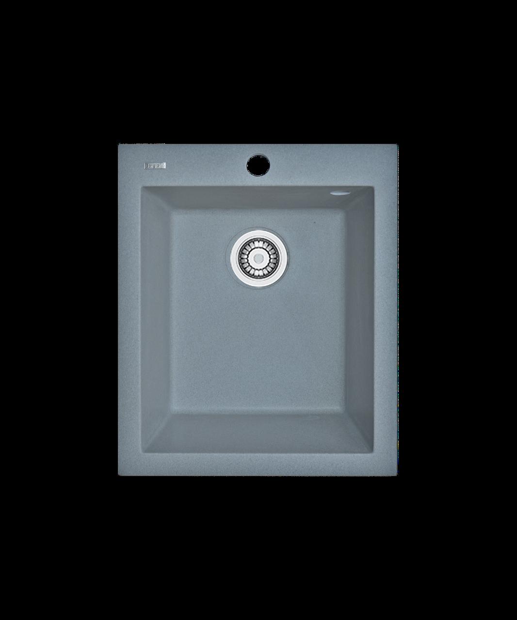 Кухонная мойка гранитная Borgio Q-410x500 серый металлик