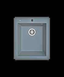 Кухонна мийка гранітна Borgio Q-410x500 сірий металік