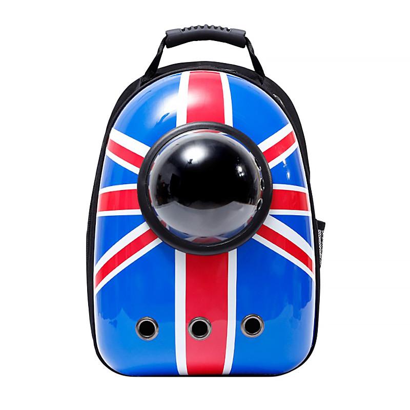 Рюкзак-переноска для кішок Taotaopets Window Britain Flag котів собак з ілюмінатором
