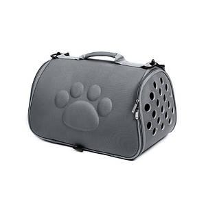 Сумка-переноска для кошек Hoopet 19G0173G Dark Grey 43*25*26 cm контейнер