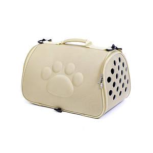 Сумка-переноска для кошек Hoopet 19G0173G Ivory 43*25*26 cm контейнер