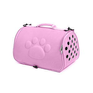 Сумка-переноска для кошек Hoopet 19G0173G Pink 43*25*26 cm контейнер