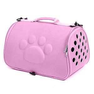 Сумка-переноска для кошек Hoopet 19G0173G Pink 52*27*28 cm контейнер