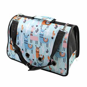 Сумка-переноска для котов и собак Taotaopets 246610 L Blue Alpaca