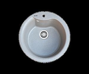 Кухонна мийка гранітна Borgio ROC-490 сірий камінь