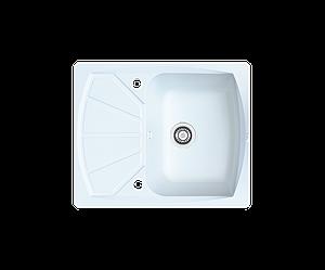 Кухонна мийка гранітна Borgio PRT-610x500 білий