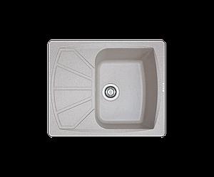 Кухонна мийка гранітна Borgio PRT-піщаний 610x500