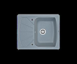 Кухонна мийка гранітна Borgio PRT-610x500 сірий металік