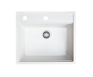 Кухонна мийка гранітна Borgio Q-570x510 білий