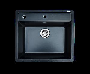 Кухонна мийка гранітна Borgio Q-570x510 чорний
