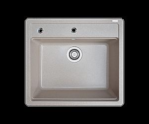 Кухонна мийка гранітна Borgio Q-піщаний 570x510