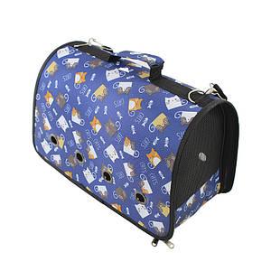 Сумка-переноска для котов и собак Taotaopets 246610 L Blue Kats контейнер