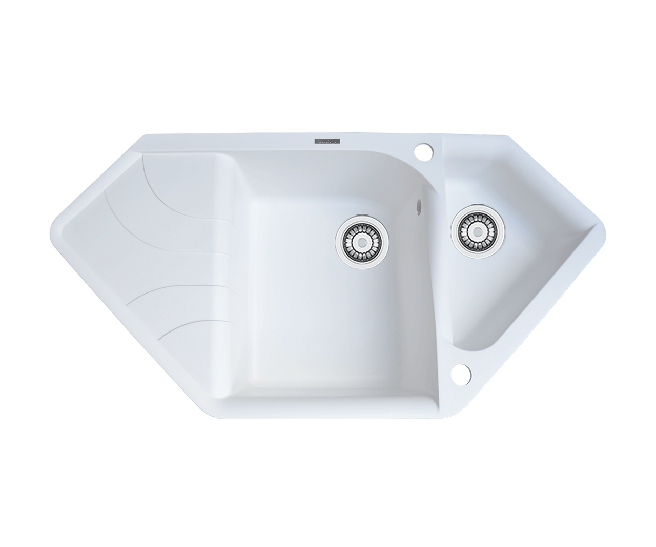 Кухонна мийка гранітна Borgio TRZ-1000x500 білий