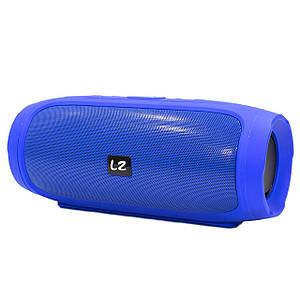 ✕Портативна колонка LZ Charge 4 Blue компактна акустика для будинку музики функція Bluetooth Power bank