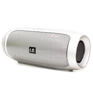 Колонка LZ Charge 4 Silver безпровідна (Уцінка. Вітринний варіант. Дрібні потертості)