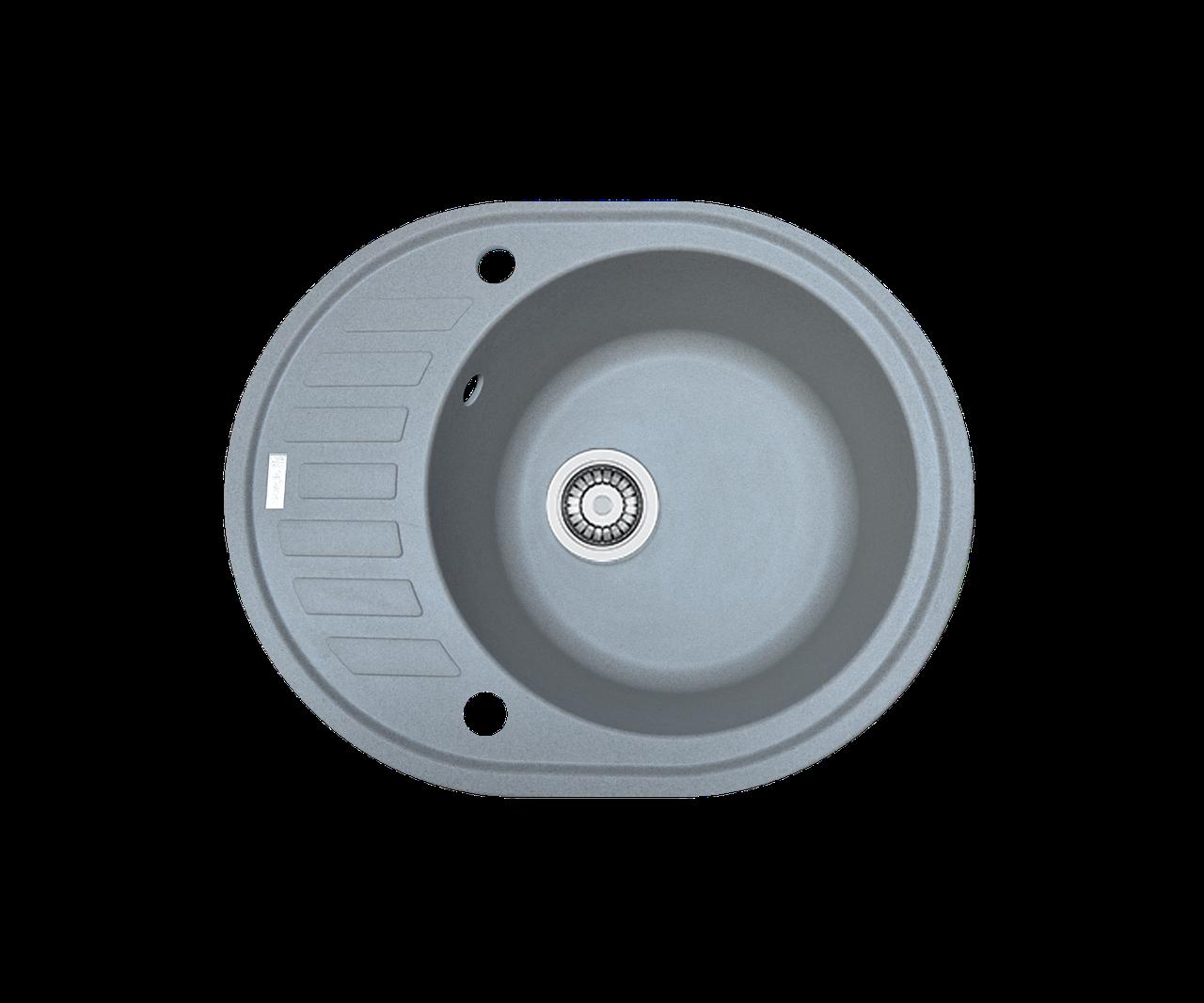 Кухонная мойка гранитная Borgio OVM-620x500 серый камень