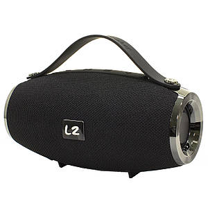 Бездротова колонка BL LZ E16 mini Black Блютуз роз'єми AUX/ Bluetooth/ USB/ карта пам'яті батарея