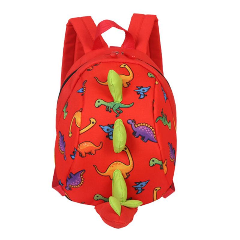 Детский рюкзак Dinosaur Lesko 816 Red с ремешком анти-потеряшкой дошкольный для девочек
