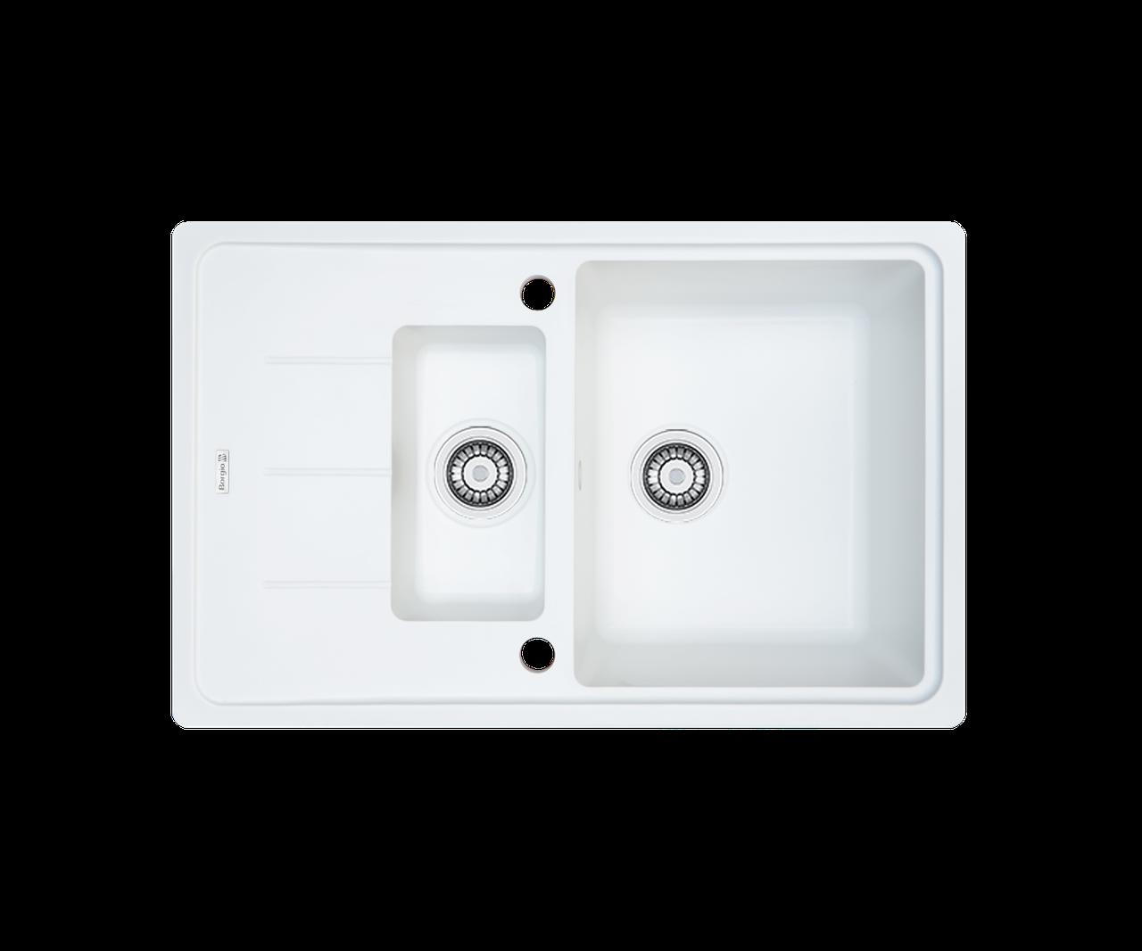 Кухонная мойка гранитная Borgio PRFC-780x500 белая