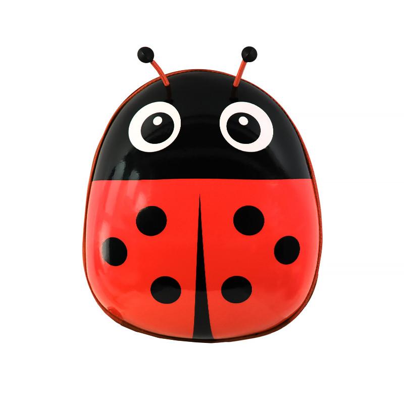 Детский рюкзак с твердым корпусом Lesko Ladybug 229 Red для прогулок садика