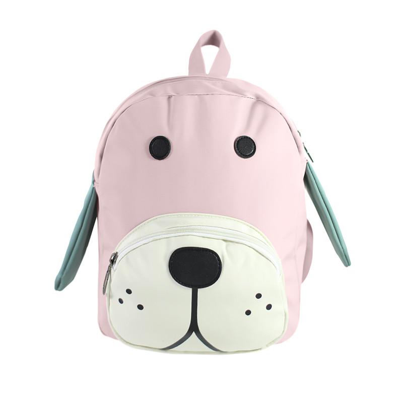 Детский рюкзак Lesko 689hy Pink Puppy дошкольный для садика прогулок