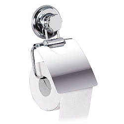 Тримач для туалетного паперу Tatkraft Megalock металевий з вакуумною присоскою (11458)