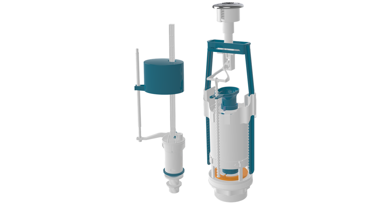 Універсальна змивна арматура Start-Stop з клапаном нижньої подачі води 1/2 (NOVA 4363)