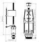 Універсальна змивна арматура Start-Stop з клапаном нижньої подачі води 1/2 (NOVA 4363), фото 2