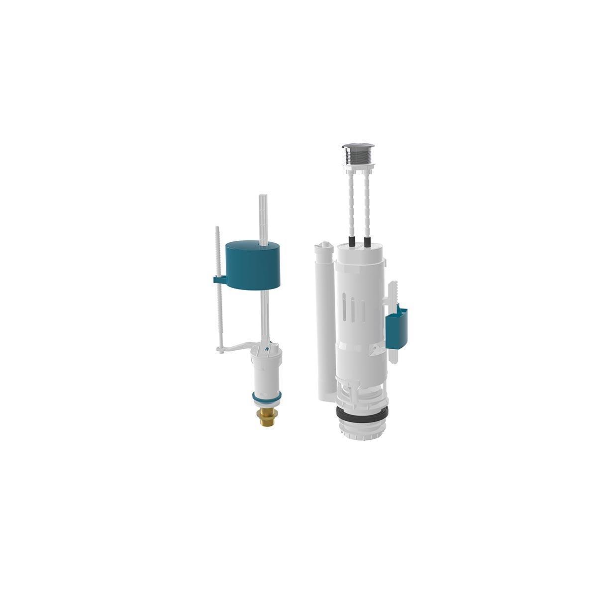 Комплект двухуровневой смывной арматуры 3/6 литров, с клапаном нижней подачи воды 3/8 (NOVA 4130)