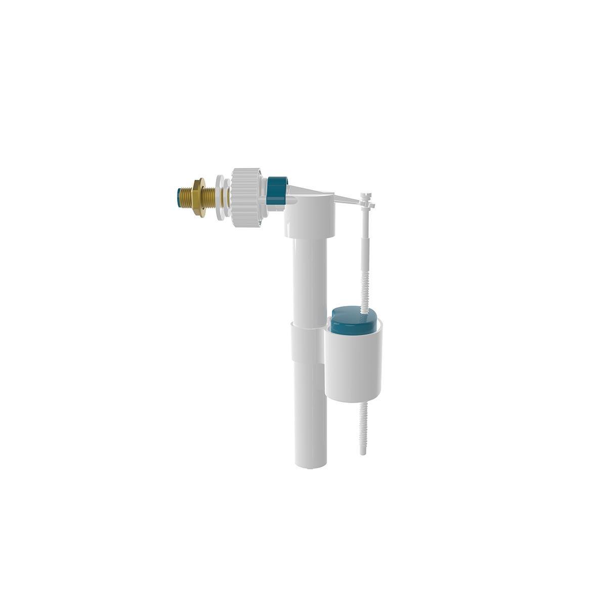 Клапан поплавковый боковой подачи воды 3/8, латунная резьба (NOVA 7024)