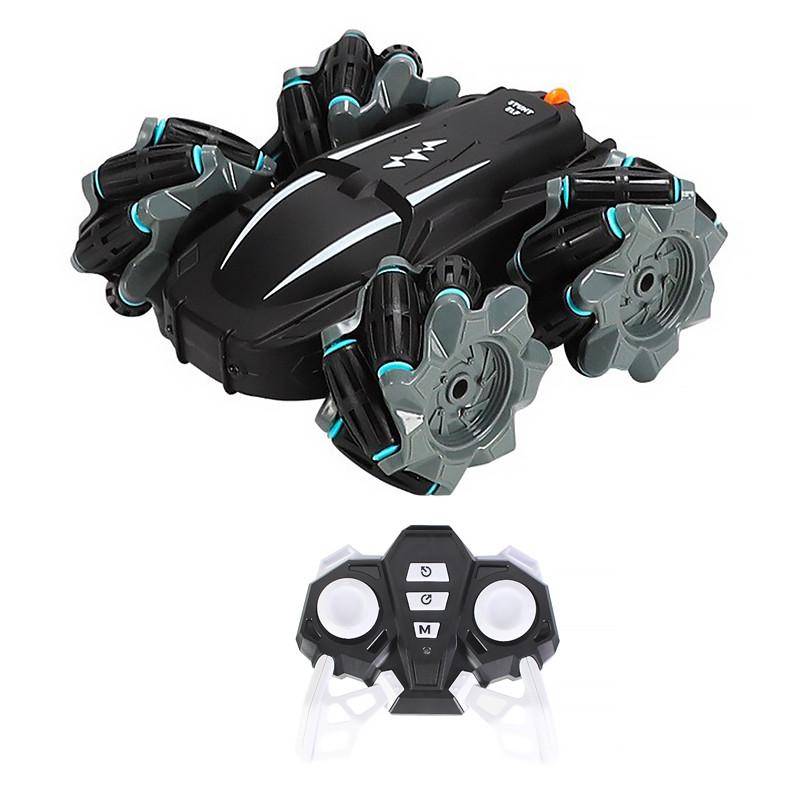 Трюкова машинка перевертиш-всюдихід Lesko T17 Black з дистанційним управлінням дитяча