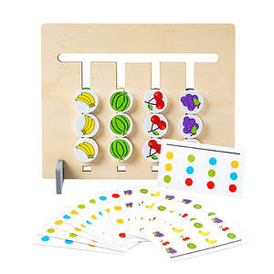 Двостороння гра-головоломка Lesko XBL-080 Кольору і фрукти дитяча розвиваюча