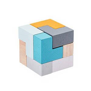 Дерев'яна розвиваюча гра BOX Lesko Куб 5128 для дітей