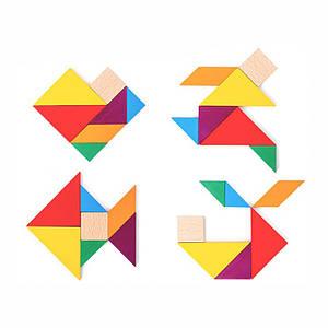 Деревянная развивающая игра BOX Lesko Танграм 5123 для детей